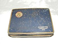 VINTAGE COLLECTABLE PLAYERS NAVY CUT CIGARETTE TIN 100 MEDIUM