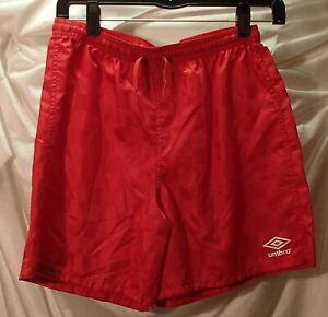 Umbro Red Nylon Soccer Shorts Youth Size Large ~ New