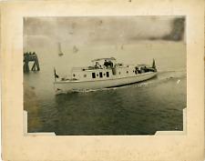 Excursion en mer Vintage silver print Tirage argentique mat  17x22