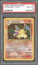 POKEMON GO 1999 BASE 1ST GENERATION  #4/102  CHARIZARD  SPANISH ULTRA RARE PSA 8