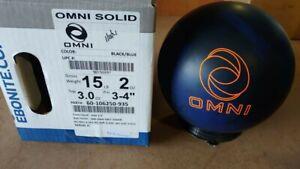New Ebonite Omni Solid Bowling Ball | 15# 12092