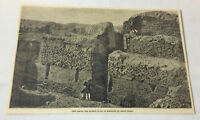 1883 magazine engraving ~ ANCIENT RUINS OF MANSICHE, Peru