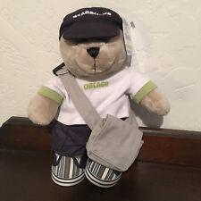 STARBUCKS Bearista Stuffed Bear 2008 Chicago NWT Messenger Bag Mint