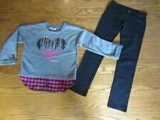 DKNY Girls Top Size L (12) ( runs smaller) and Gymboree Leggings Pants Size 10