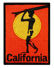 """California"" Surfboard Beach Bum Wave Rider Ocean Surf Sew On Applique Patch"