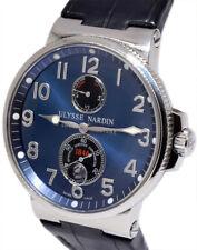 Ulysse Nardin Maxi Marine Stainless Steel Blue Dial Mens Watch & Box 263-66