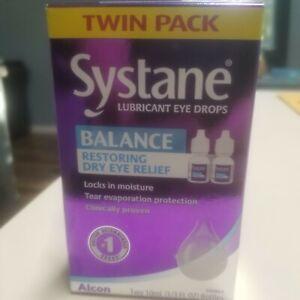 2 Packs- Systane Balance Eye Drops Twin Pack - 2x2 10mL Bottles (4 Total)