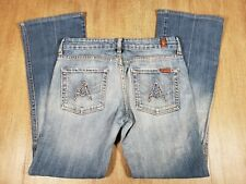 #146AT Seven 7 For All Mankind Womens Jeans Distressed Medium Wash Tag Size 27