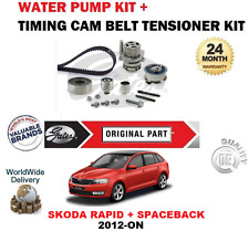 FOR SKODA RAPID + SPACEBACK 1.6 TDi 2012-ON TIMING CAM BELT KIT + WATER PUMP SET