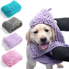 Dog Towel Soft Microfiber Chenille Pet Bath Dry Towels Super Absorbent Washable