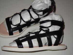 Nina Original Women's Saida Gladiator Sandal, Black Kidskin, 6 M US
