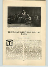 "1909 Paper Ad  ""Profitable Employment for the Blind"" James Cooke Mills 6 pg."
