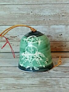 USA Pacific Stoneware Inc Southwestern Roadrunner Wind Chime Bell Pottery