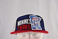 Minnesota Twins Red/White/Blue Trucker Style Baseball Cap Snapback