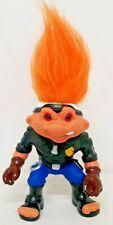 Police Battle Troll Vtg 90s Action Figure 1992 Hasbro Orange Hair Biker Cop Toy