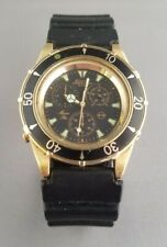 Vintage Bulova T1 Marine Star Chronograph Men's Gold Tone Dive Watch~Runs Well