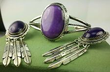 VINTAGE Navajo Purple Spiny Cuff and Earring set .925 Great GIFT
