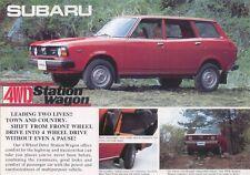 SUBARU 1600 4x4 Estate 1977-78 ORIGINALE UK SALES BROCHURE NO. L57 4WED 77.6