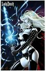 LADY DEATH ART PRINT by RICHARD ORTIZ COVER X Signed by BRIAN PULIDO /