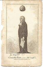 1798 English Political Engraving Councellor Ego by J Gillray
