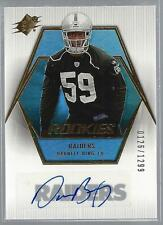 Darnell Bing 2006 SPX Rookie Auto Card #154 Raiders