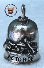 LIVE TO RIDE  MOTORCYCLE GREMLIN RIDE BELL **MADE IN USA**