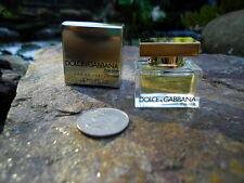 Dolce & Gabbana the one women Eau De Parfum MINI Perfume D & G .17 Oz NEW in Box