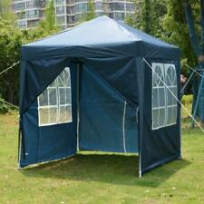 More details for 2x2m gazebo marquee pop up canopy outdoor garden party tent with 4 sides blue uk