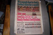 New England Patriots Coca-Cola Sunday Comic ad 1967