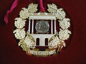 Vintage 1998 United States Mint Christmas Ornament / Philadelphia