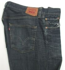 LEVI STRAUSS & CO. 501 Leather Size Tag Button Fly Staight Leg Jean Size 36