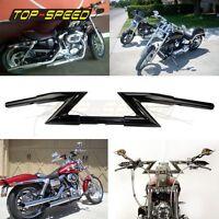 Z-BAR 1 In Handelbars Mounting Clamp Handle Bar For Harley Honda Dyna Softail
