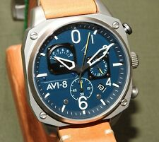 AVI-8 HAWKER HUNTER QUARTZ DATE CHRONOGRAPH WRIST WATCH Pilot Flight AV-4052-07