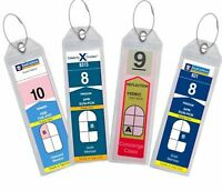 4 Cruise Ship Luggage Tag Holders Great for ROYAL CARIBBEAN and CELEBRITY X