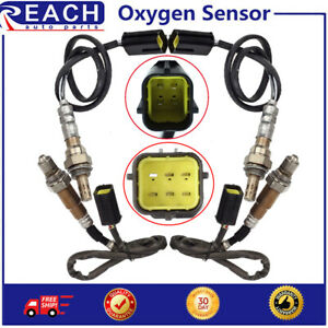 4pcs Upstream+Downstream O2 Oxygen O2 Sensor For 2011-2013 Infiniti QX56 V8 5.6L