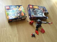 2 lego sets: nexo knights 70311 and incomplete star wars set 75034