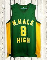 Wiz Khalifa #8 N. Hale High School Men's Basketball Jersey Stitched Green