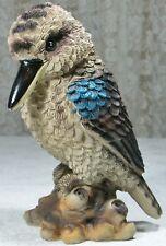 A Kookaburra on a Tree Stump Figurine 18cm Poly Resin KOOK7 9319844360517 NEW