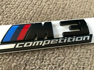 Matt Black M3 Competition Trunk Tailgate Sticker Badge Emblem For BMW M3 F80