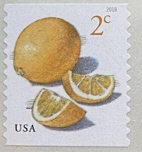 ~~VINTAGE TREASURES~~  2018USA #5256 2c Meyer Lemons - Coil Single  MNH