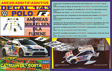 ANEXO DECAL 1/43 VOLKSWAGEN POLO R WRC A.MIKKELSEN R R.CATALUNYA 2014 7th (07)