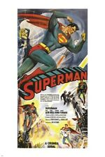 SUPERMAN 1948 serial movie poster SUPER HERO strong CAPED CRUSADER 24X36 new