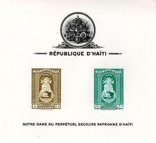 1942 Haiti Scott C19a, C20a and C21a, 3 key airmail souvenir sheets imperf NH