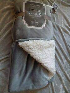 Luxurious Sherpa Throw Blanket 50x60 Plush Reversible Gray Soft Warm NEW!