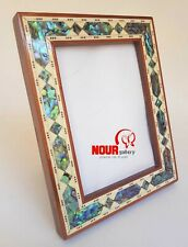 """New Egyptian Handmade Beech Wood Picture Frame Inlaid Mother of Pearl 6.89x5.31"""""""