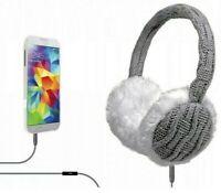 Earmuffs Headphones Earphones Warm Winter On Ear Wired 3.5mm Headset Mic NEW