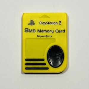 MagicGate Yellow Nyko Memory Card 8MB for Playstation 2 PS2 Console Game System