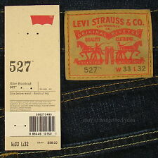 Levis 527 Jeans Mens New Slim Boot Cut Size 33 x 32 BLACK INDIGO Levi's #155