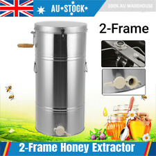 2 Frame Stainless Steel Manual Bee Honey Extractor Spinner Beekeeping w/ Outlet