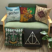 Harry Potter Cotton Linen Pillow Case Sofa Waist Throw Cushion Cover Home Decor